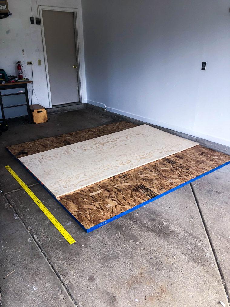 steps to build a garage gym diy weightlifting platform