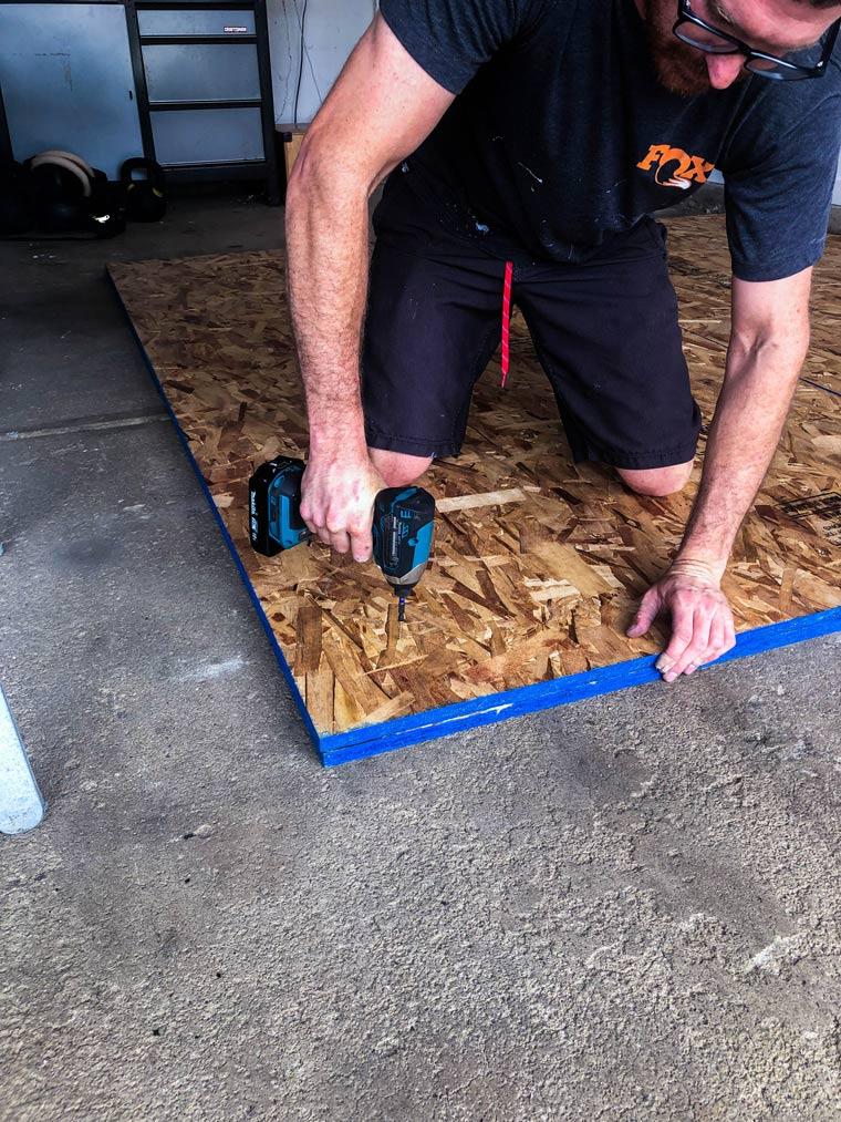 screwing wood together building a diy weightlifting platform