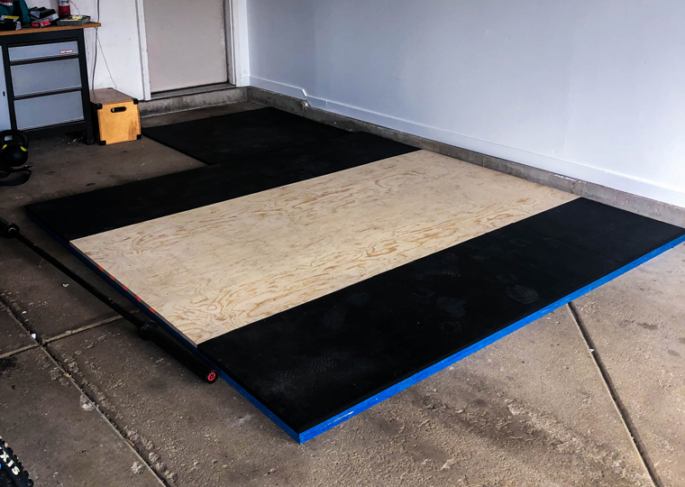 DIY Garage Gym Lifting Platform