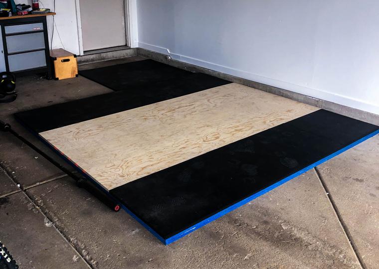 DIY Garage Gym Lifting Platform