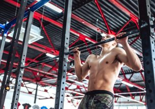Butterfly Pullup In Crossfit Gym