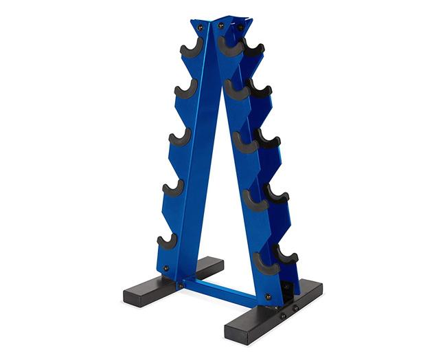 a frame vertical dumbbell rack