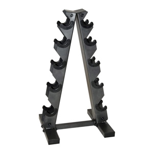 space saving a-frame dumbbell rack