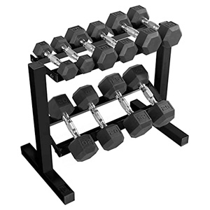 dumb bell weight set with rack for beginners
