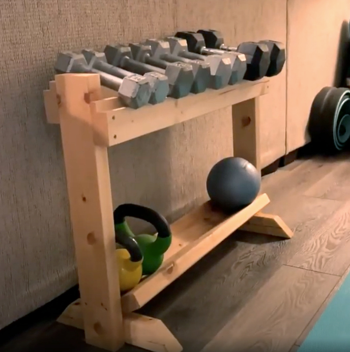 Diy Wooden Dumbbell Rack