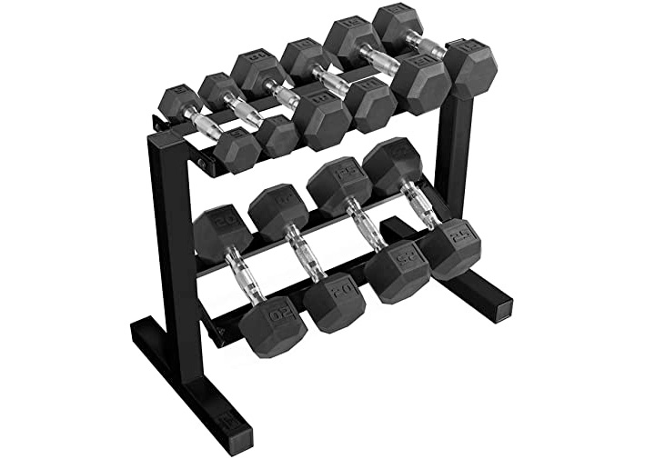 dumbbell rack with weights for beginners