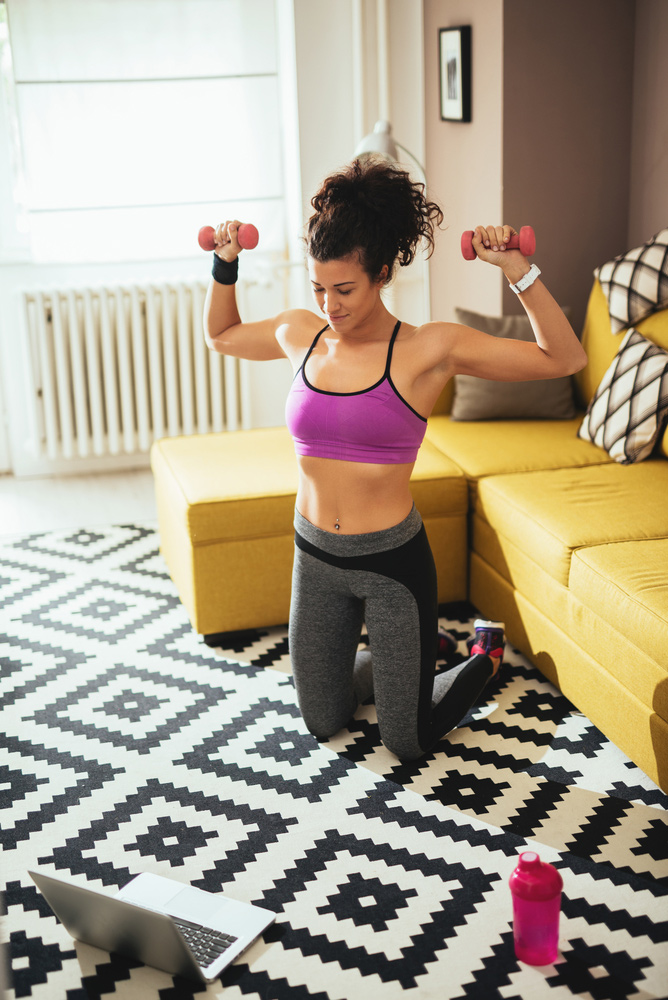 home dumbbell exercise
