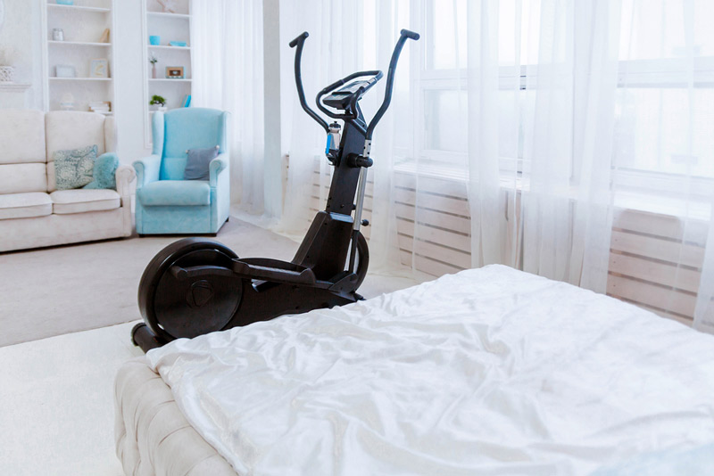 elliptical machine for working out in an apartment or small condo