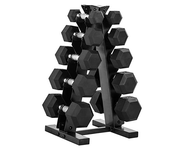 large a-frame vertical dumbbell rack