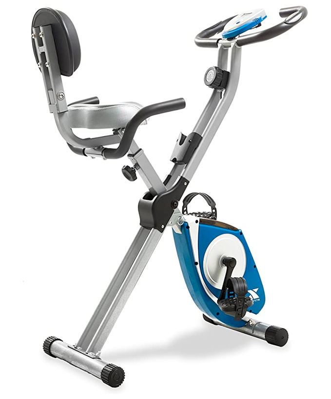 lightweight and powerful folding exercise bike that will fit in a home gym closet