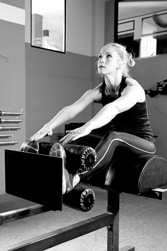 crunches and ghd sit ups on a roman chair
