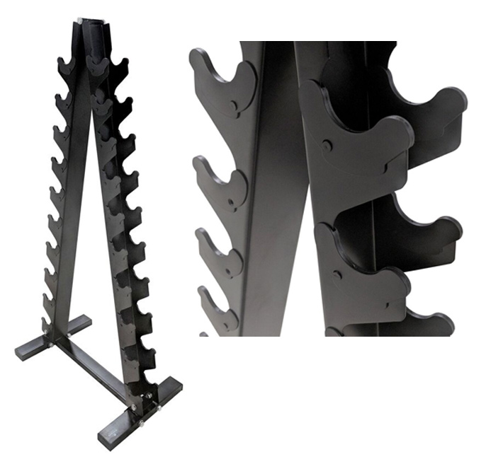 titan fitness lightweight vertical dumbbell rack for a small home gym