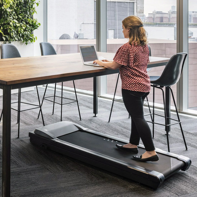 Working With A Standing Under Desk Office Treadmill
