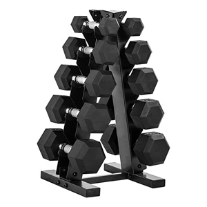 dumb bell weight set with vertical rack